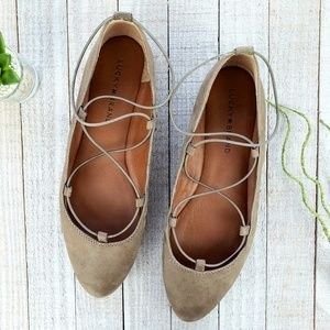 Lucky Brand // Eaviee Lace Up Ballet Flats Size 9